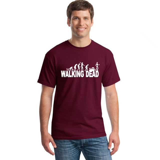 The Walking Dead T-Shirt – Men Casual 100% Cotton Printed Short Sleeve Tees