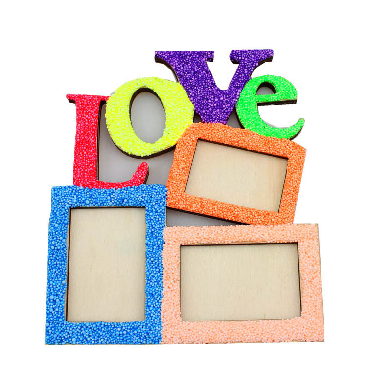 love diy wooden photo frame three square shape frames create your own freestyle