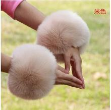 2pcs a lot big sleeve decor fur rings hand fur decoration cute faux fox fur warm oversleeves fur arm sleeve decor multi colors(China (Mainland))