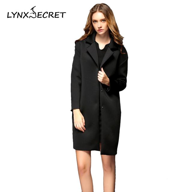 Осень Зима Шерсть Ветровка лацкане пиджака пальто женский темно кнопку отложным воротником элегантный для женщин тонкий
