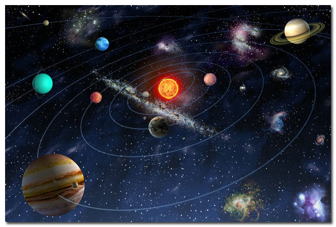 The Solar System Space Universe Art Wall Silk Poster Room Decor 24x36inch 02(China (Mainland))