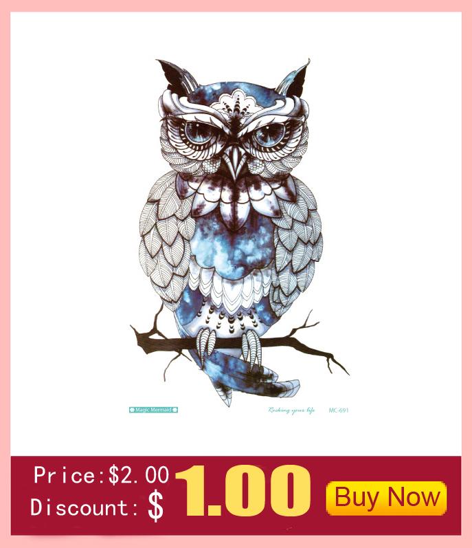 10 PCS 1 Lot Fashion Men And Women Tattoo Lovely butterfly diamond Bird Owl Body Art Flash Waterproof Temporary Tattoos Stickers