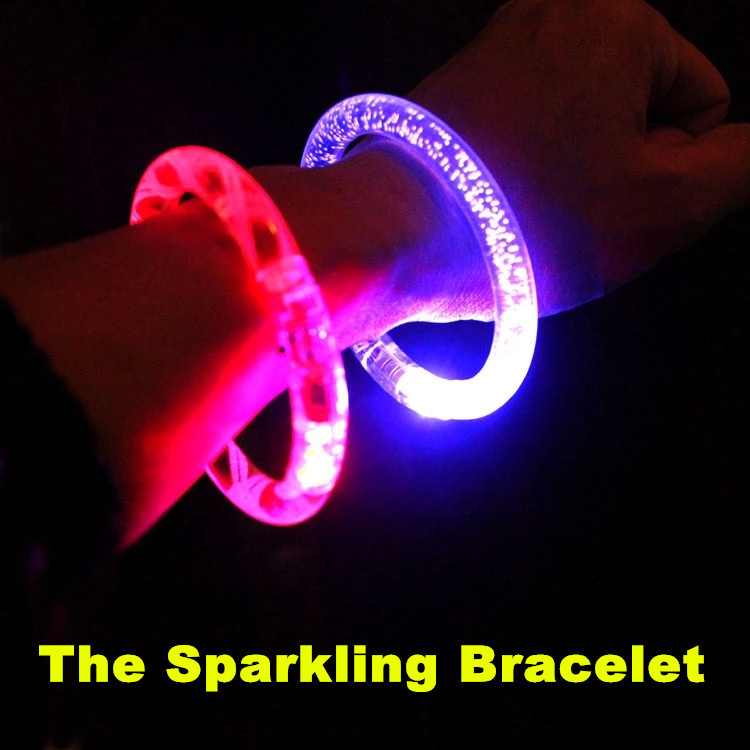Sparkling Bracelet LED Multi Colors Get High Cheering Disco Bar Rave Party Concert Carnival baby shower festa Free Shipping pt01(China (Mainland))