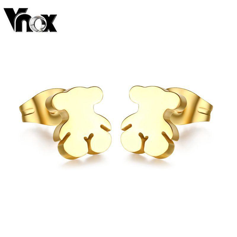 Fashion cute teddy bear design  stud earrings for women and girls(China (Mainland))