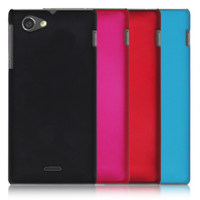 2015 New High Quality Multi Colors Luxury Rubberized Matte Hard Phone phone cases Cover For Sony Xperia J ST26I