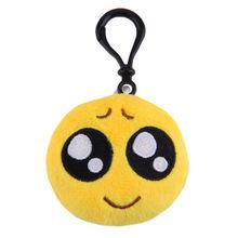 Emoji Pelúcia Keychain Chaveiro Chave Anel Chave Cadeia Saco Rosto Pelúcia Emoji Emoticon Gancho Cadeia de Telefone Chaveiro Pele(China)