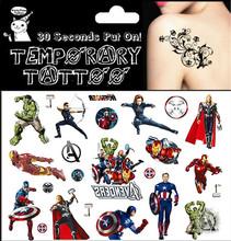 2015 Superheros Children Flash Tattoo Sticker 17 10cm Waterproof Tatoo Beauty Summer Style 2015 Temporary Body