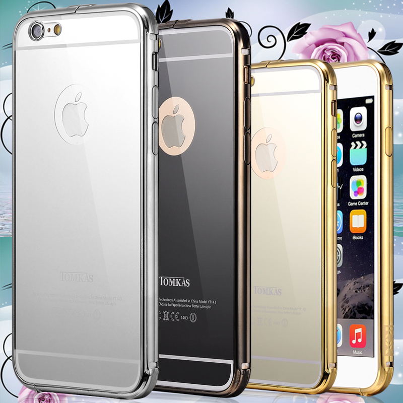 6 6 plustomkas mirror gold slim aluminum case for iphone 6 for Coque iphone 6 miroir