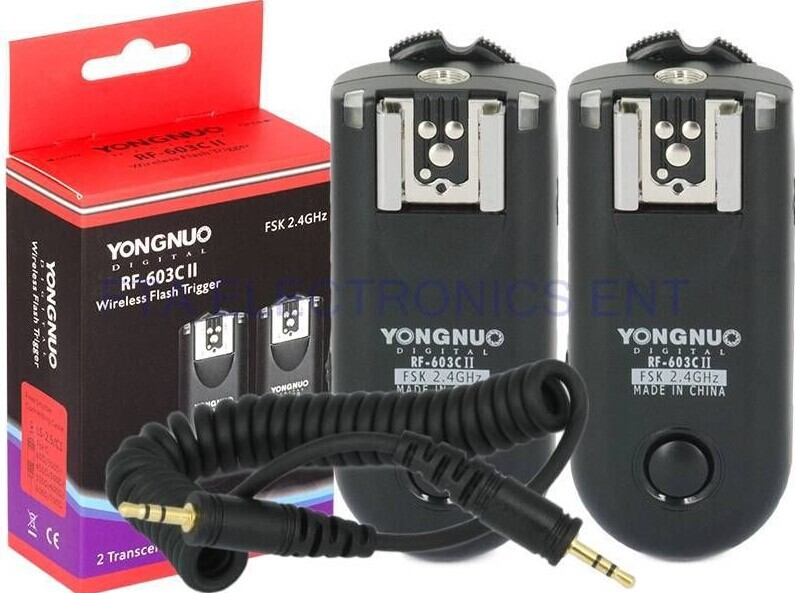 YONGNUO Shutter Release RF-603II C1 Flash Trigger Transmission distance up to 100m for Canon 60D 70D 300D 550D 600D 700D 1000D(China (Mainland))