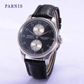 2016 New 43mm Parnis Seagull Automatic Power Reserve Men s Wristwatch Gray Dial Watch Mechanical