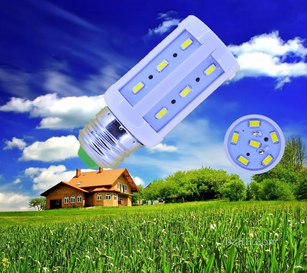 5pcs/lot 5630 24leds E27 E14 E26 B22 B15 85-265V/AC 5w 600lm corn bulb LED Corn light led bulb lamp LAMP CE&RoHS certificated