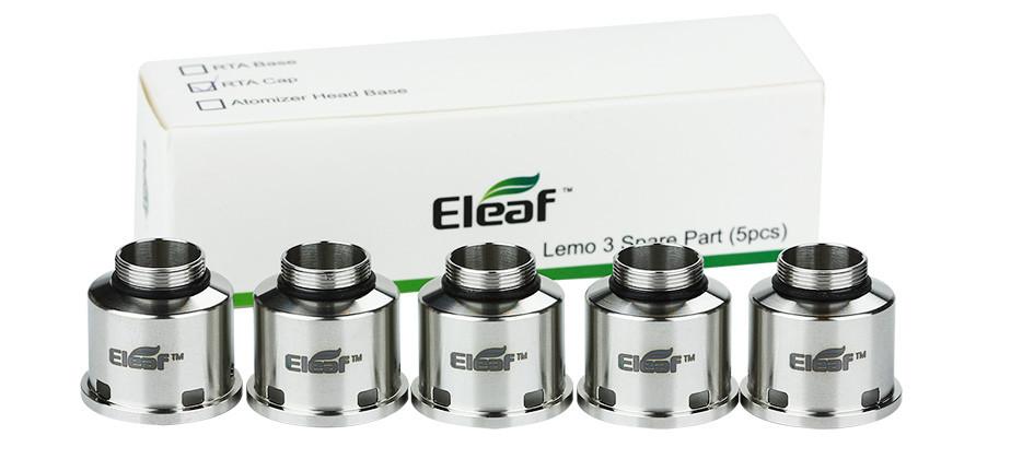 ถูก 100%เดิมEleaf Lemo 3 RTAหมวกทดแทนบุหรี่อิเล็กทรอนิกส์RTAฐานหมวกสำหรับLemo 3เครื่องฉีดน้ำ5ชิ้นใน1แพ็คจากhg