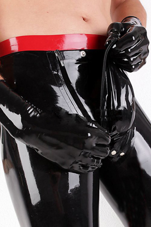 Latex Fetish Garment Trousers Rubber Pants Sexy For Mens Plus Size Rubber Trousers Sexy Men's Latex Trousers
