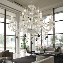 European Candle Crystal Chandeliers Ceiling Bedroom Living Room Modern E14 Lustres 12 Arms Crystal Chandelier Lighting(China (Mainland))