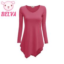 Belva 2016 V-Neck Pregnancy T Shirt Maternity Clothes Maternity Tops Irregular Hem Premama Pregnancy Shirt(China (Mainland))