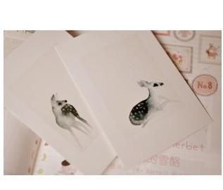 Гаджет  Free shipping vintage illustrator Deer  postcard 18pcs/lot Greeting card/wishes card/ wedding card/Christmas Cards /gift None Офисные и Школьные принадлежности