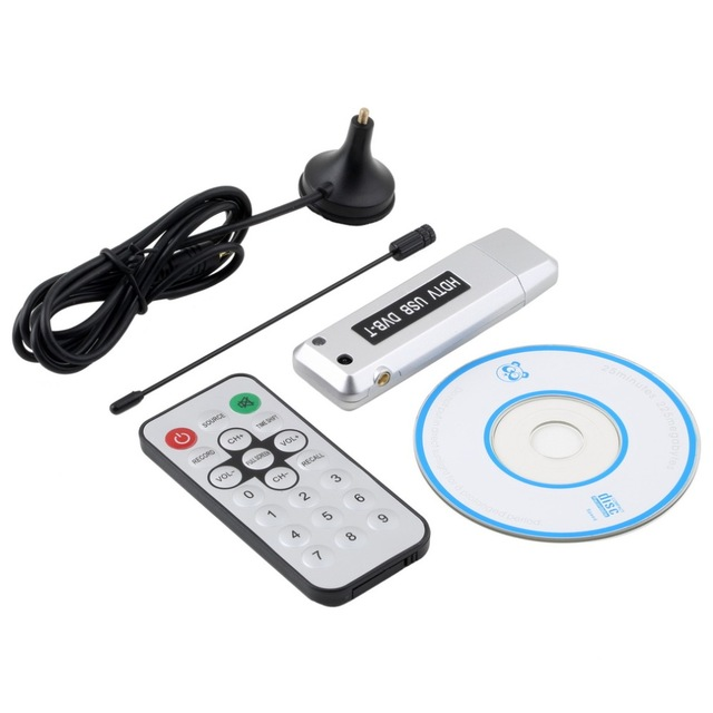 Free Shipping New 1 pcs USB 2.0 DVB-T Digital TV Receiver HDTV Tuner Dongle Stick Antenna IR Remote Free / hot selling(China (Mainland))