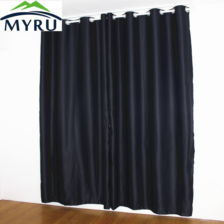 MYRU New Black Curtains Full Shade Thermal Insulated Blackout Curtain For BABY And SHIFT WORK PERSON