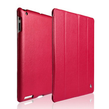 Jisoncase Screen Protector Smart Case For iPad 4  3  2 Cover Magnetic Stand Leather Luxury Cover For iPad