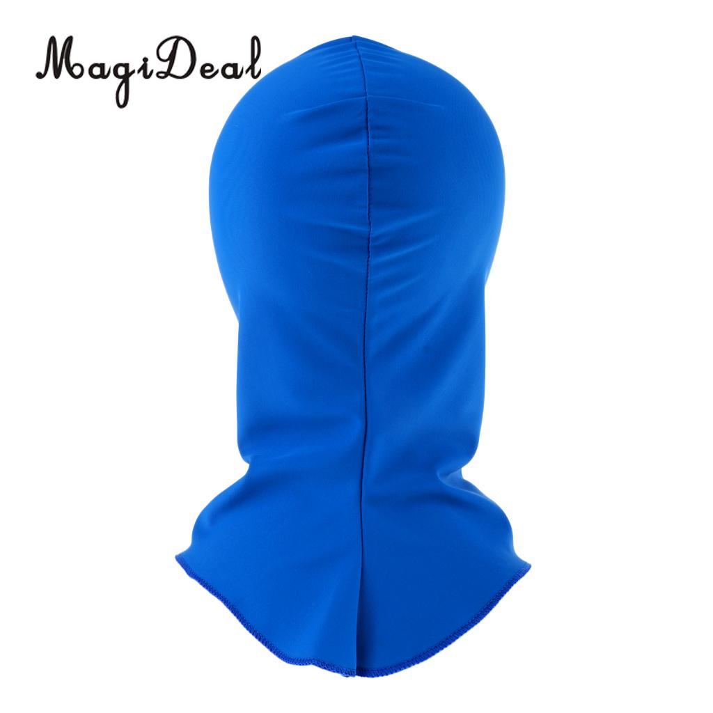 MagiDeal Fashionable Pool Mask Head Sunblock UV Sun Protection Face Mask Swim Cap for Surf Diving Snorkeling Spearfishing Sports