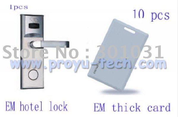 EM/ID RF Card Door Lock with 10pcs EM/ID thick card PY--8011-3Y kit used for home and office(China (Mainland))