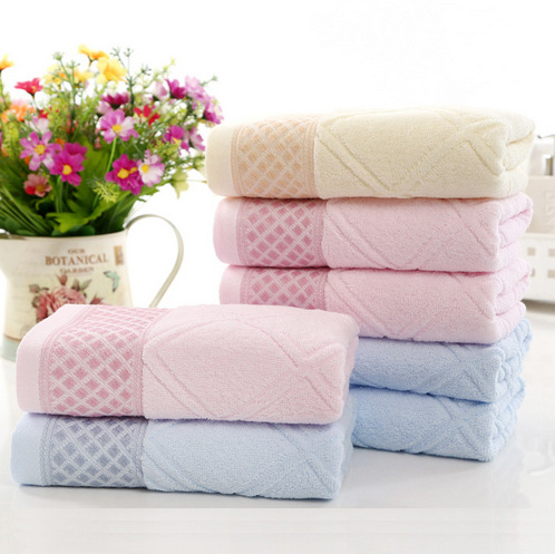 Pure cotton jacquard towel, thickened environmental protection bath towel, 3 sizes to choose from, free shipping(China (Mainland))