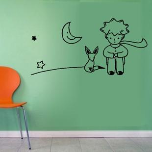 Free shipping little prince fox wall sticker kid room Decoration le petit prince