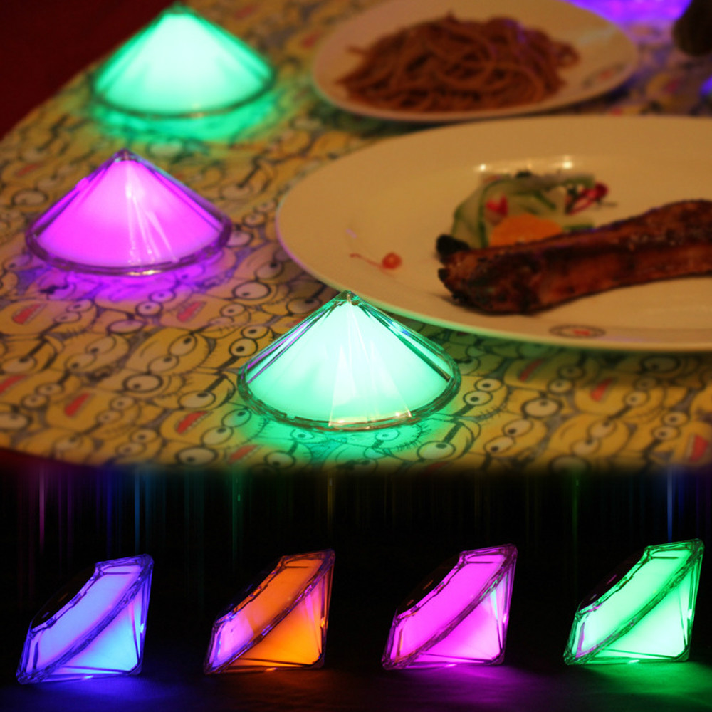 Diamond Design Touching Living Colorful Mood Light Atmosphere Lamp Night Light with Built-in Rechargeable Battery for Gift(China (Mainland))