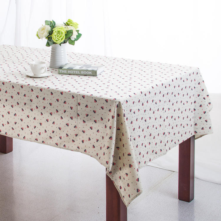 Linen Table Cloth American style American Heart Print High Quality Tablecloth Table Cover manteles para mesa Free Shipping(China (Mainland))
