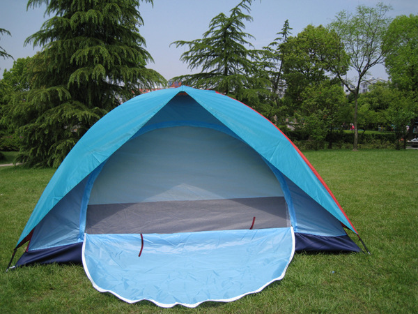 Фотография 2 Person Camping Tent Outdoor Double Layer Waterproof Hiking Beach Tourist Tienda de acampar tente carpas