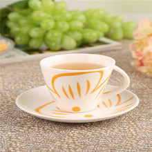 European creative ceramic coffee cup with a coffee cup and saucer simple fashion tape cartridge Tea