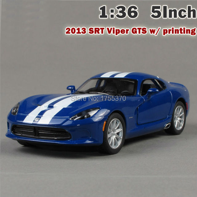 New 2013 SRT Viper GTS Printing Model Car 1:36 5 Inch Diecast Metal Alloy Toy Car Pull Back Gift For Children Kids