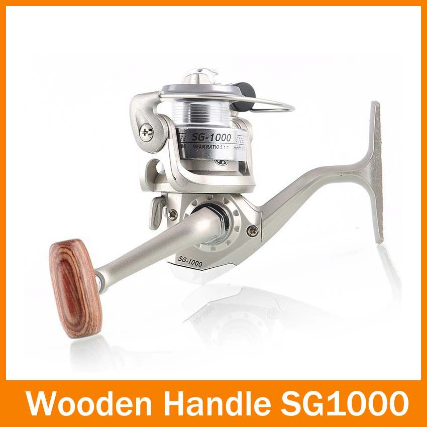 2014 New 6 BB Coil High Power Gear Spinning Spool Aluminum Fishing Reel SG1000 Free Shipping for outdoor sports(China (Mainland))