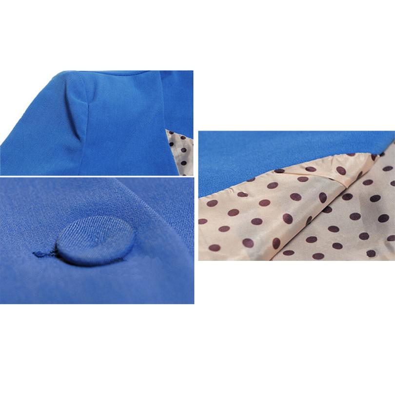 Фотография FAAJ 5 x (Women Long Sleeve One Button Padded Shoulder Casual Boyfriend Blazer -XXL(Blue)