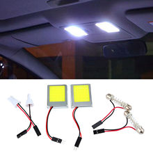 1PC 8W Aluminum T10 Dome Festoon Car Truck Interior License Plate COB LED Light Lamps White Durable Long life illumination