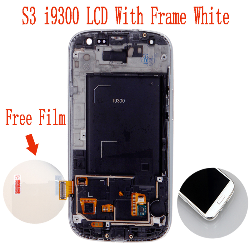 Free shipping for Samsung Galaxy S3 LCD with frame Screen i9300 i9305 i747 i535 t999 l710 r530(China (Mainland))