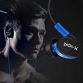 Original Metal Luminous Earphone Glow In The Dark Headset 3.5mm In-Ear Stereo Zipper Earbuds for MP4 DJ Smart Phone fone ouvido