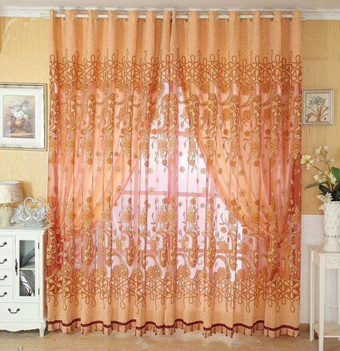 And Stylish High Quality Screens Curtain Jacquard Living Room Curtains . ... Part 22