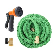 Ohuhu 75ft/100ft Expandable Garden hose With Spray Nozzle Green Color Shipping From US(China (Mainland))