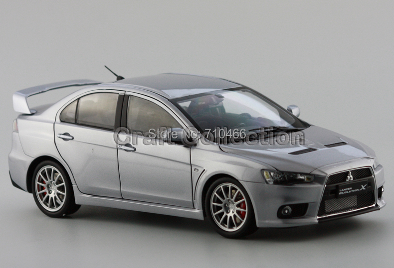 Special Offer! Silver Mitsubishi Lancer EVO X 10th Generation Zinc Alloy Model Show Car Miniature Gifts(China (Mainland))