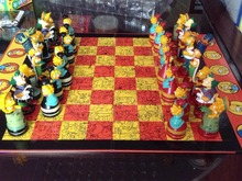 Colorful Simpson high quality chess set for kids best Birthday gift(China (Mainland))