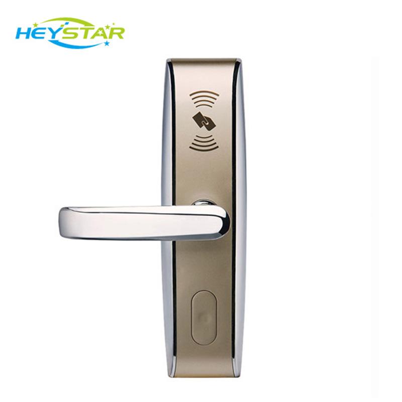 Smart RFID Card Door Locks with Door Handles Electronic Digital Keyless Door Lock Home Security Hotel Access Control System(China (Mainland))