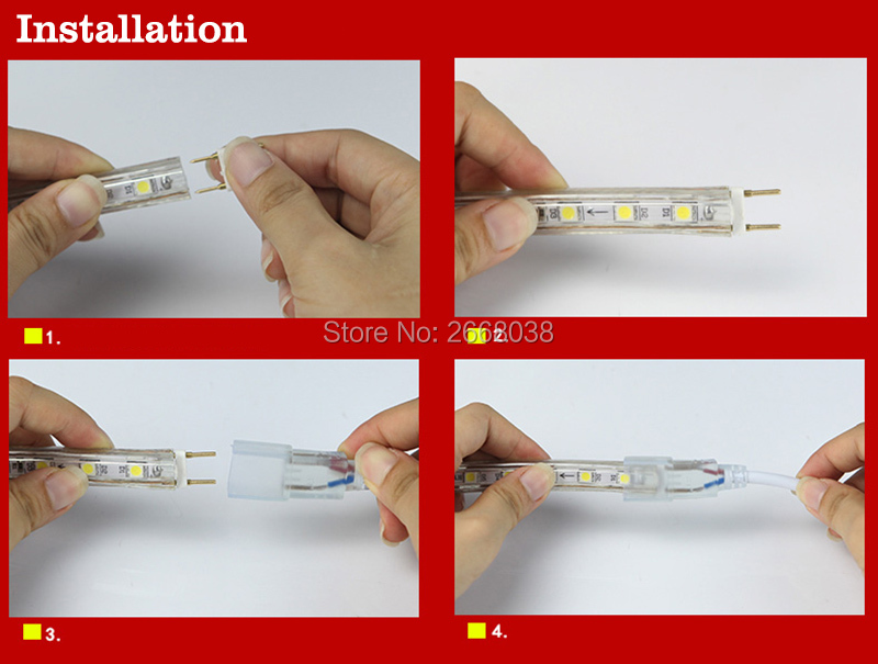LED strip light installation