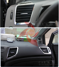 Air-conditioning outlet decoration High-pitched sound cover auto parts Car Accessories for Honda civic 9gen 2013 2014
