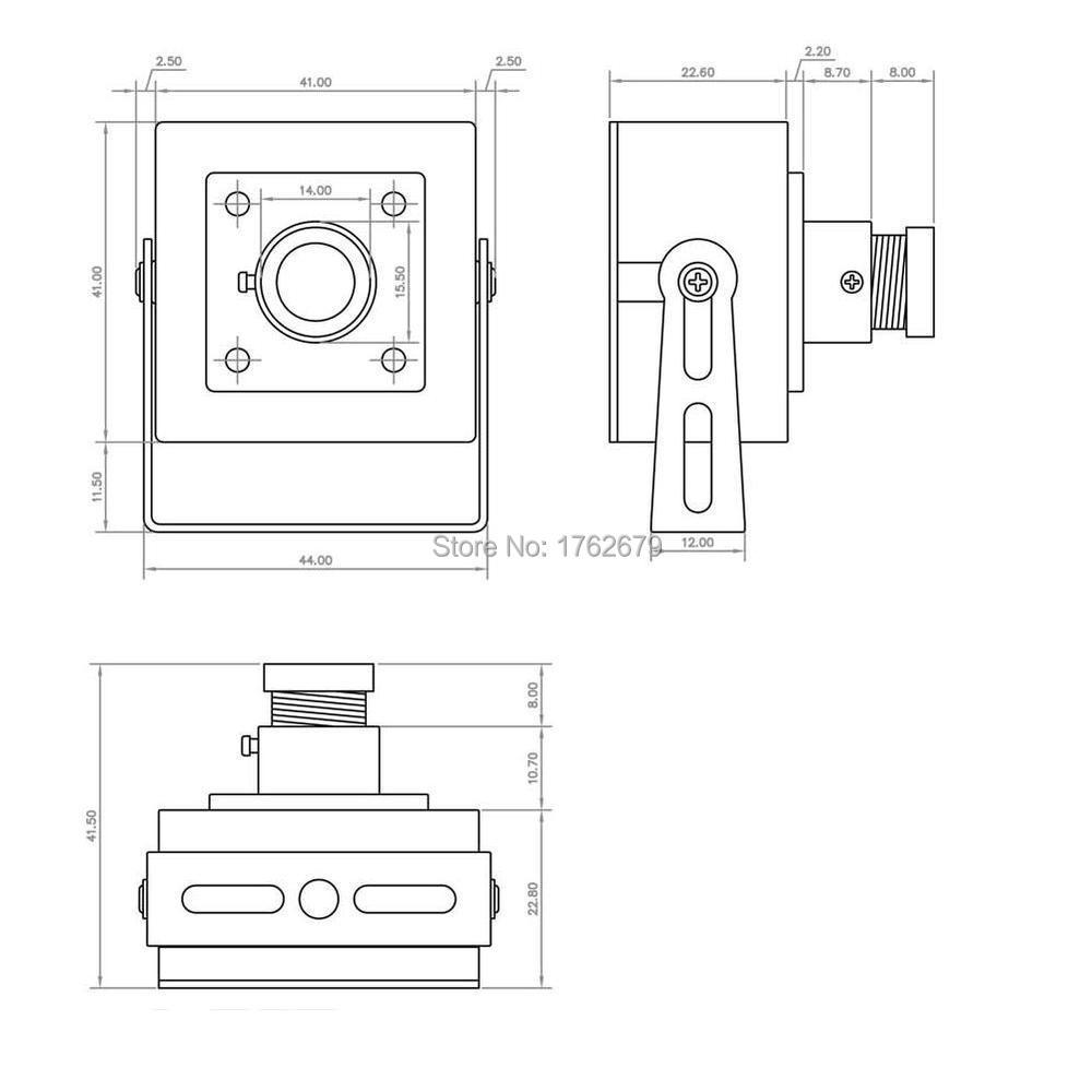 CCTV Camera USB module board 6mm lens 0.3MP VGA 640×480 30fps Video camera for Project video capture,camera module USB interface