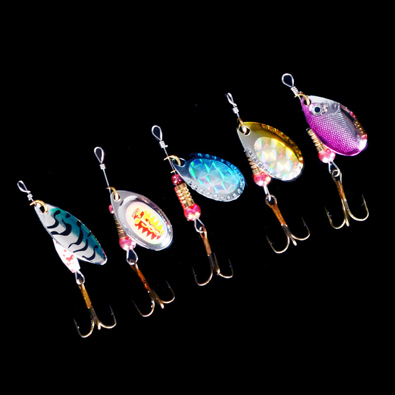 5pcs spinner Metal Lures Fishing Lures Hard Bait Fresh Water Bass Walleye Crappie Minnow Fishing Tackle SP120SX302(China (Mainland))