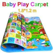 Nueva Doulble-Site Baby Play Mat 2 * 1.8 metro Fruit letras y Happy Farm Beach niño Mat Picnic alfombra arrastre del bebé Mat CM-015(China (Mainland))