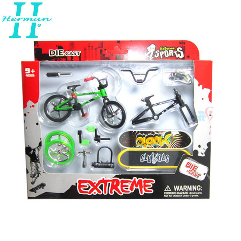 ICANX 2015 New Arrival DIY Alloy Finger Skateboard+Finger Bike Children's Day Gift FS107(China (Mainland))