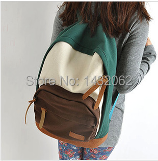 2015 Best casual Canvas backpack Preppy style for Women MEN girls ...