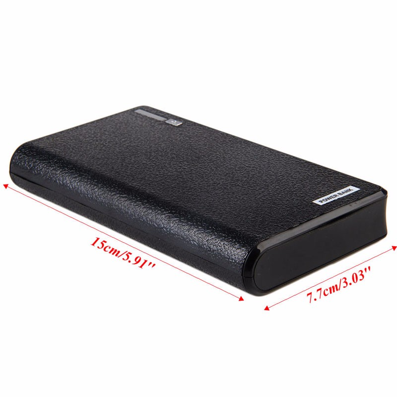 XINYUANSHUNTONG Dual USB Power Bank 6x 18650 External Backup Battery Charger Box Case For Phone